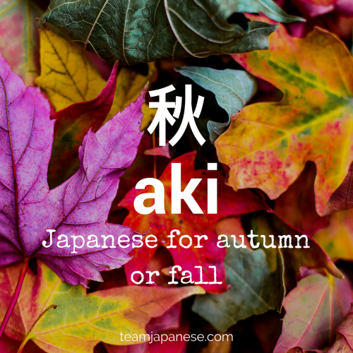 aki-Japanese-vocabulary-autumn-word