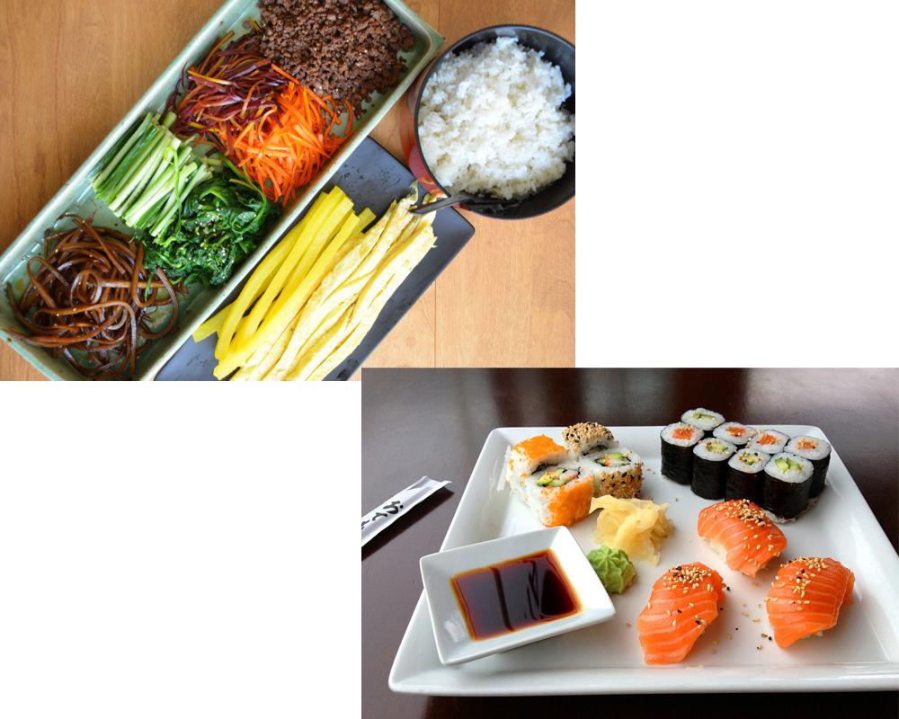 Kimbap-vs-Sushi